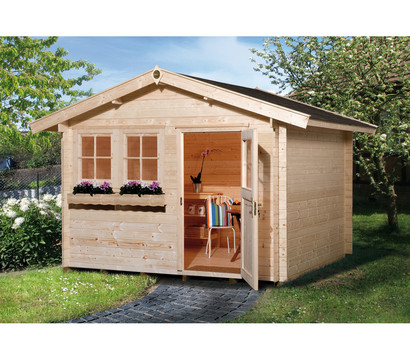 weka gartenhaus 139 dehner garten center. Black Bedroom Furniture Sets. Home Design Ideas