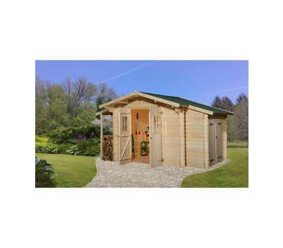 Weka Gartenhaus 209, mit Schleppdach und Anbauschrank
