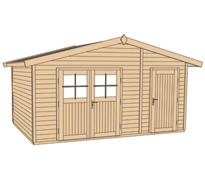 weka gartenhaus 261 dehner garten center. Black Bedroom Furniture Sets. Home Design Ideas