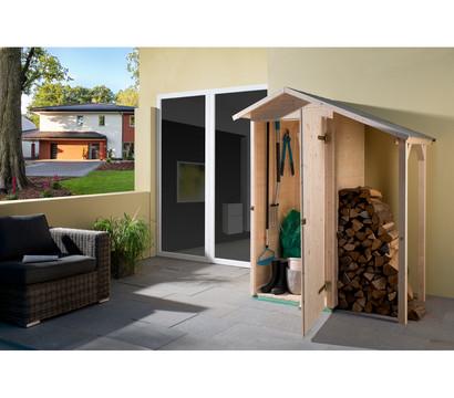 Weka Garten-Terrassenschrank 351 A und Schleppdach