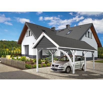 Weka Leimholz Satteldachcarport 614 Gr. 1