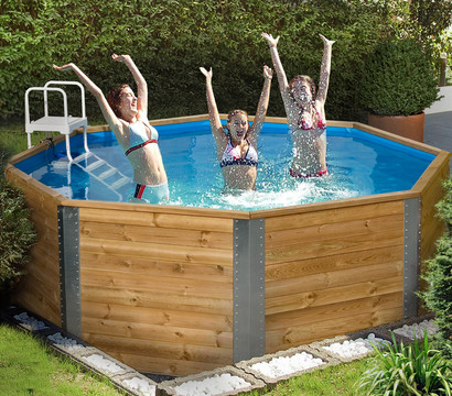 Weka massivholzpool 593 310 x 116 cm dehner garten center for Garten pool leiter