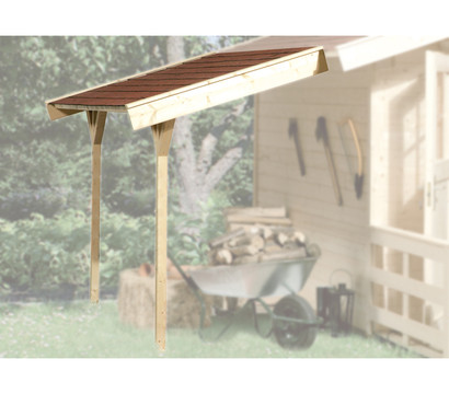 weka schleppdach f r gartenhaus ab tiefe 200 cm dehner garten center. Black Bedroom Furniture Sets. Home Design Ideas