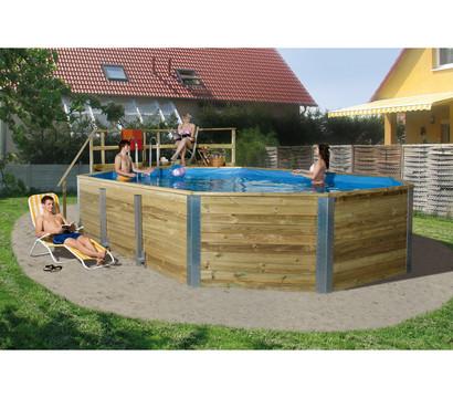 Weka Schwimmbad 594 A, inkl. Technikraum und Holztreppe