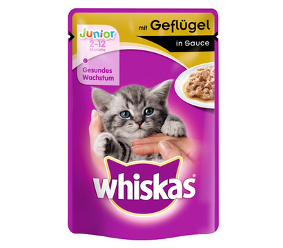 Whiskas® Junior Geflügel in Sauce, Nassfutter, 100 g