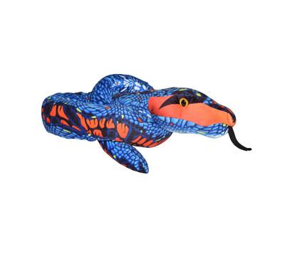 WILD REPUBLIC® Stofftier Schlange Orange Blue