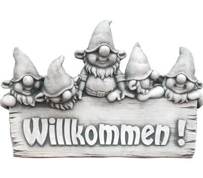Willkommen-Schild Zwerge