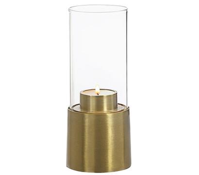 Windlicht Messing & Glas, 20 cm