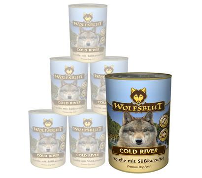 Wolfsblut Cold River, Forelle & Süßkartoffel, Nassfutter, 6 x 395g
