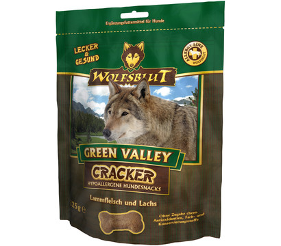 Wolfsblut Cracker Green Valley Lamm & Lachs, Hundesnack, 225g