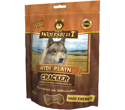 wolfsblut cracker wide plain high energy pferd hundesnack 225g dehner garten center. Black Bedroom Furniture Sets. Home Design Ideas
