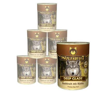 Wolfsblut Deep Glade, Rothirsch & Kürbis, Nassfutter, 6 x 395g