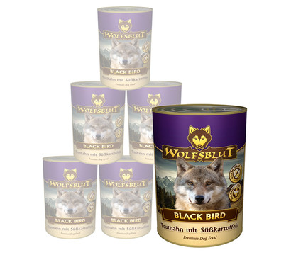 Wolfsblut Nassfutter Black Bird Truthahn & Süßkartoffel, 6 x 395g