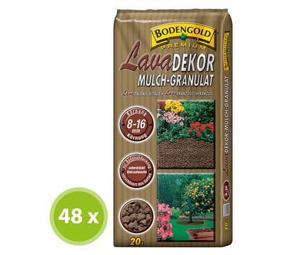 Ziegler Bodengold Lavadekor Mulch-Granulat, 48 x 20 Liter