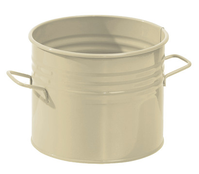 Zink-Topf, Ø 18 cm, beige