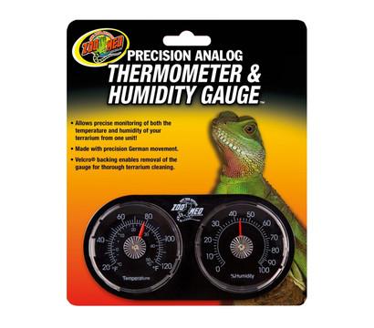 ZooMed Terrariumtechnik Analoges Dual-Thermometer und Hygrometer