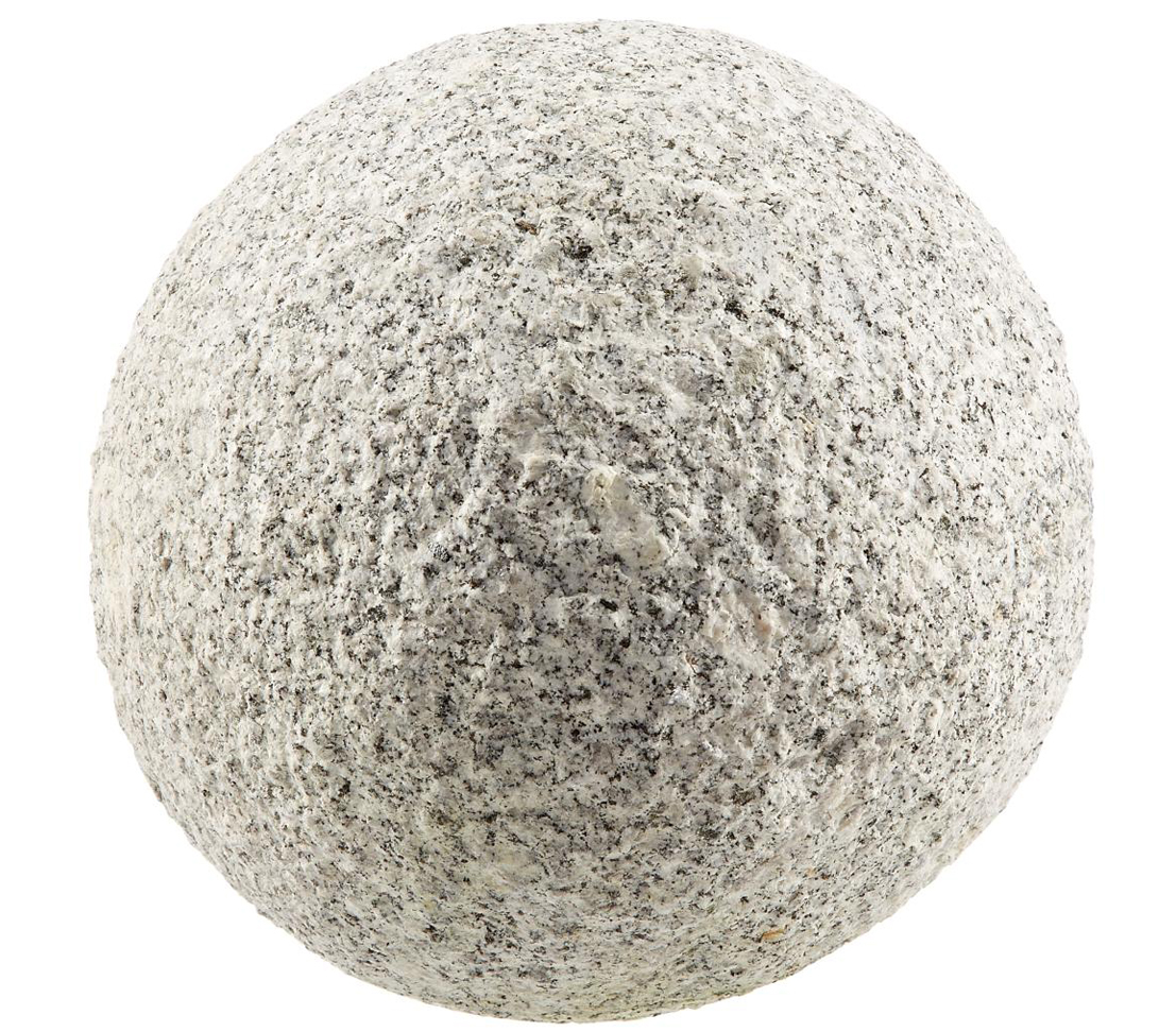 dehner deko dekokugel gartenkugel verschiedene gr en granit grau marmoriert neu ebay. Black Bedroom Furniture Sets. Home Design Ideas