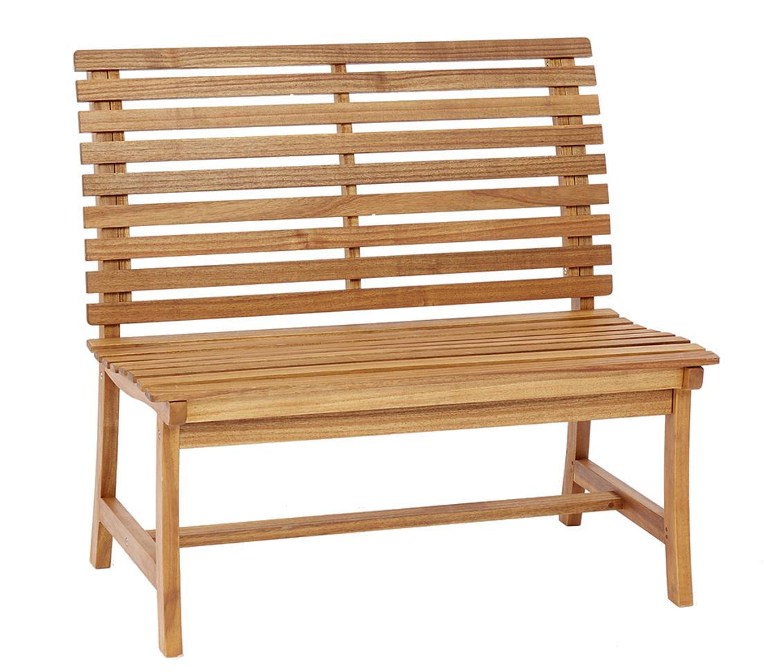 Dehner Gartenbank Holzbank Bank Paisley 2-Sitzer ca. 105x63x95 cm ...