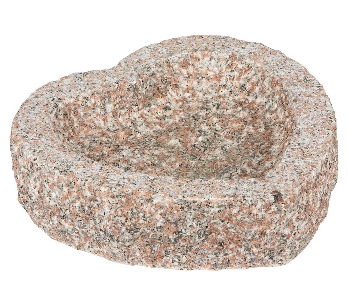Dehner Deko Dekoherz Granitherz Vogeltränke ca. 30x30x10 cm Granit ...