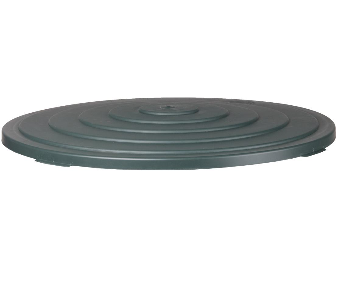 Deckel für Regentonne 500 Liter rund aus Kunststoff Farbe dunkelgrün, Dehner