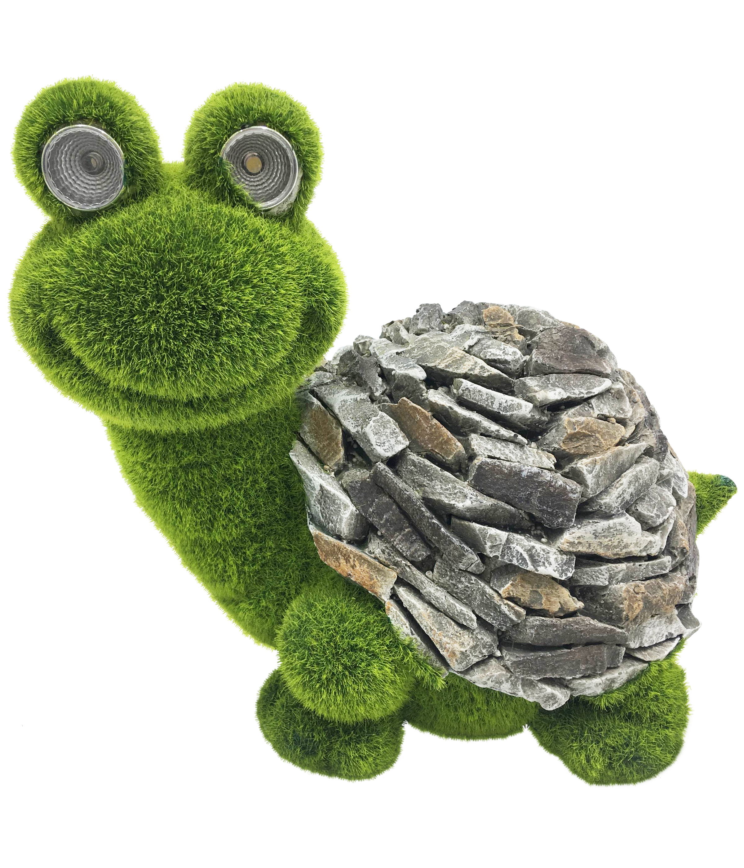 Dehner Dekofigur Schildkröte mit Solar warmweiß Magnesia 27.5 x 21.5 x 19.5 cm