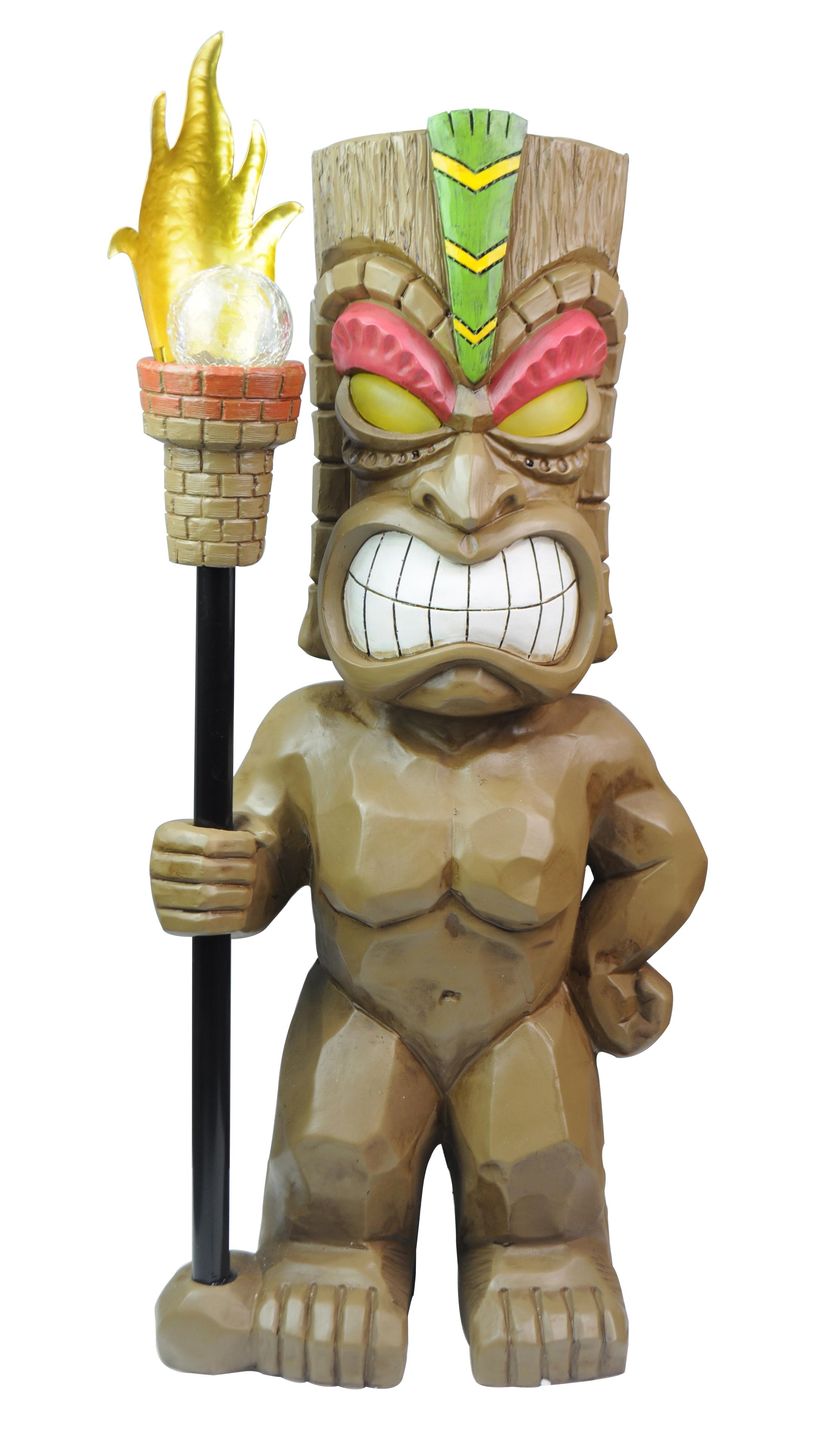 30 x 71 x 20 cm Hellbraun Dehner Dekofigur Totem Tatonga mit Solar ca Polyresin