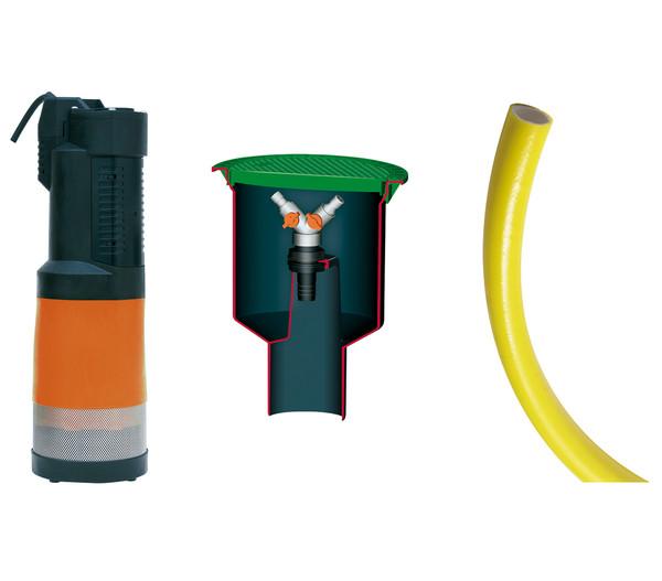 4rain Zisterne FLAT Flachtank-Paket Garten-Comfort, begehbar