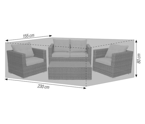 acamp Schutzhülle für Loungemöbel, 230 x 155 x 80 cm