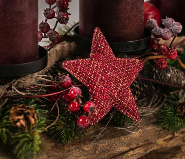 Adventsgesteck 'Red Timber', Ø 30 cm