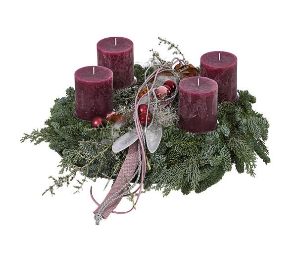 Adventskranz 'Dark Berry'