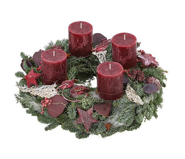 Adventskranz 'Red Forest'