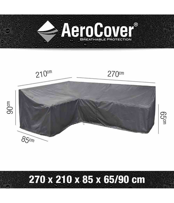 Aero Cover Loungesethülle L-Form, 270 links x210x85xH 65/90 cm