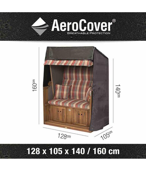 Aero Cover Strandkorbhülle, 128x105x160/140 cm
