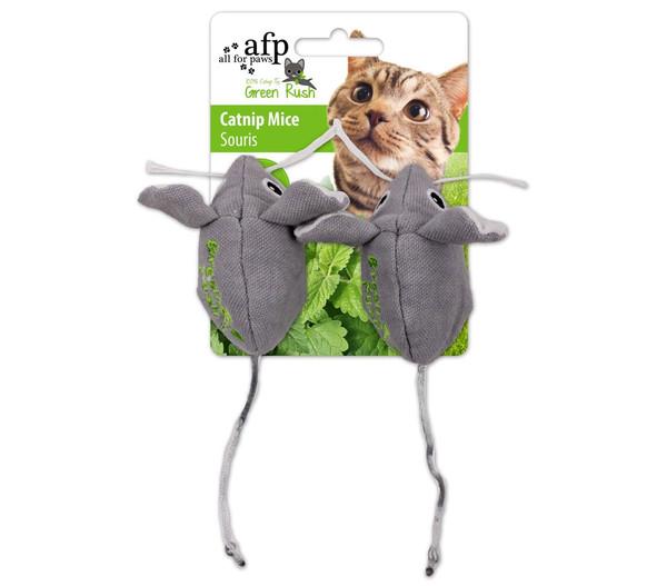 afp Katzenspielzeug Green Rush Catnip Mice