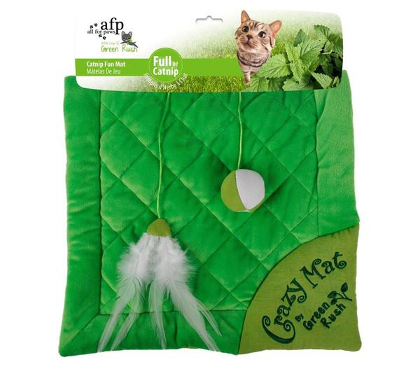afp Katzenspielzeug Green Rush Crazy Cat Mat