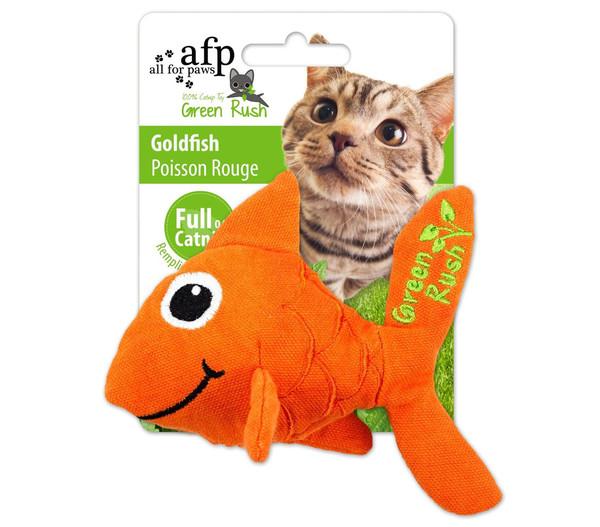 afp Katzenspielzeug Green Rush Goldfish