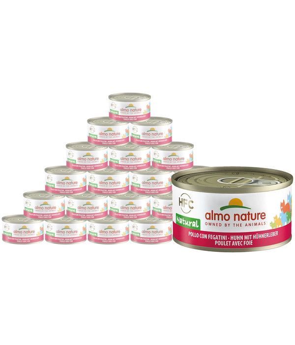 Almo Nature HFC Natural, Nassfutter, 24 x 70g