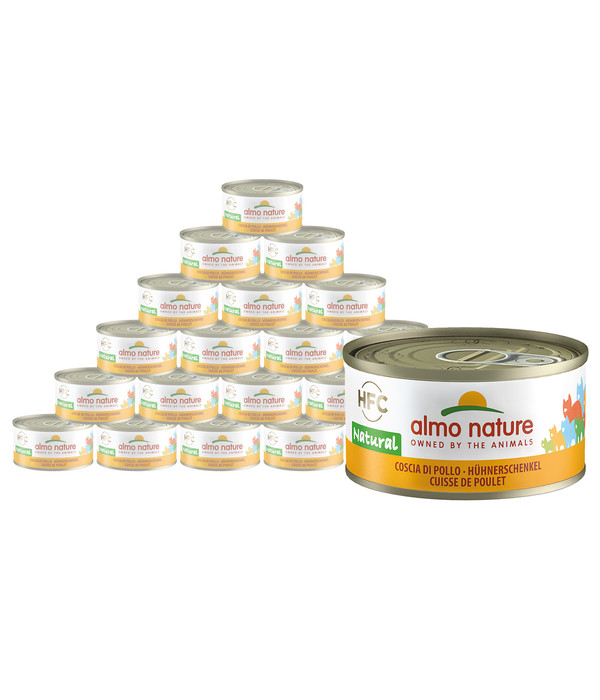 almo nature Nassfutter HFC Natural Hühnerschenkel, 24 x 70 g