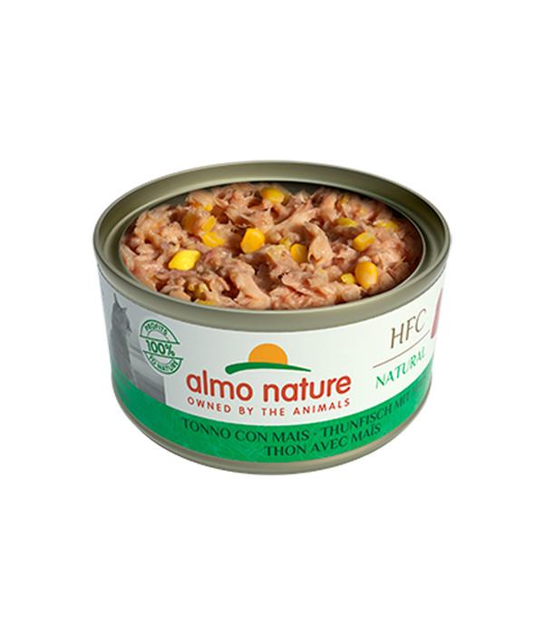 almo nature Nassfutter HFC Natural Thunfisch mit Mais, 24 x 70 g