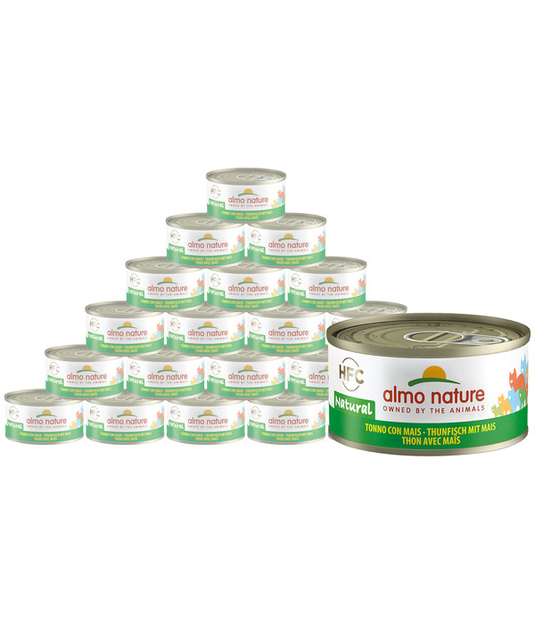 almo nature Nassfutter HFC Natural Thunfisch mit Mais, 24 x 70 g