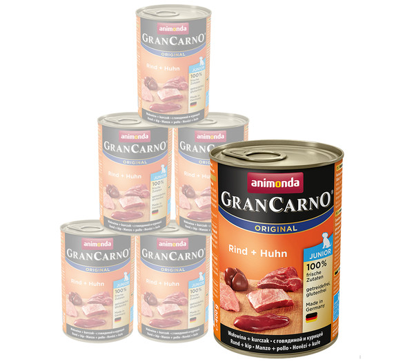 animonda GRANCARNO® Nassfutter Junior, 6 x 400g/800g