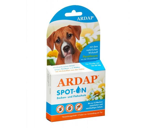 ARDAP® Zecken- und Flohschutz Spot-On für mittelgroße Hunde, 3 x 2,5ml