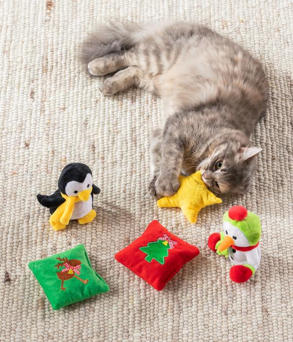 Aumüller Katzenspielzeug Baldriankissen Jingle Bells