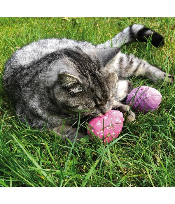 Aumüller Katzenspielzeug Ostereier, 6 Stück