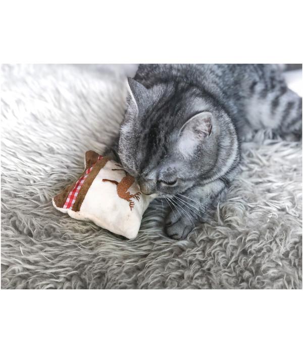 Aumüller Katzenspielzeug Spielkissen Hirsch S