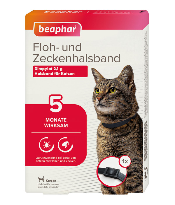 beaphar Floh- und Zeckenhalsband für Katzen, 35cm