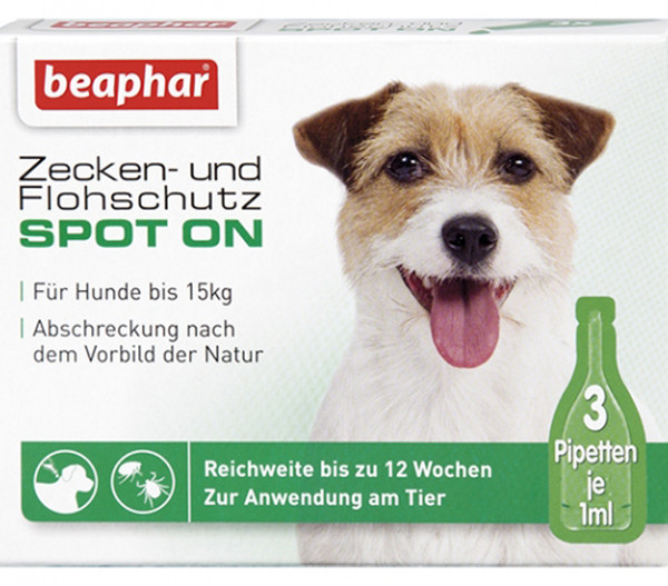 beaphar Spot On für kleine Hunde, 3x1ml