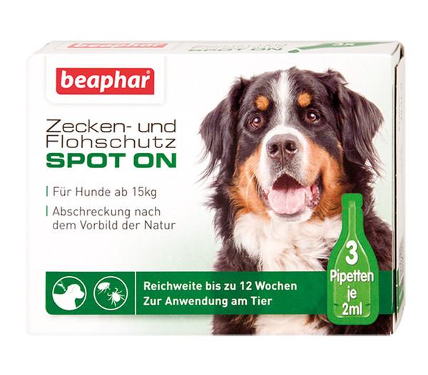 beaphar Zecken- & Flohschutz SPOT-ON für Hunde, 3x2ml
