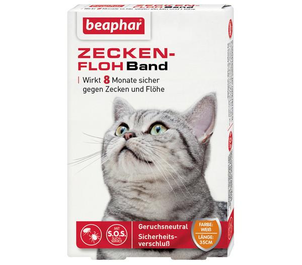 beaphar Zecken-Flohband für Katzen, 35 cm