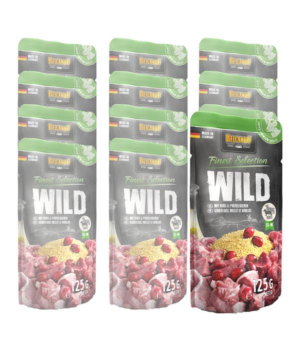 BELCANDO® Nassfutter Finest Selection Wild & Hirse Adult, 12x125g